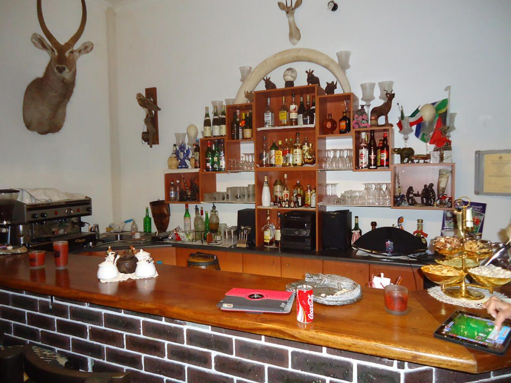 bar area with pvt hunting safaris