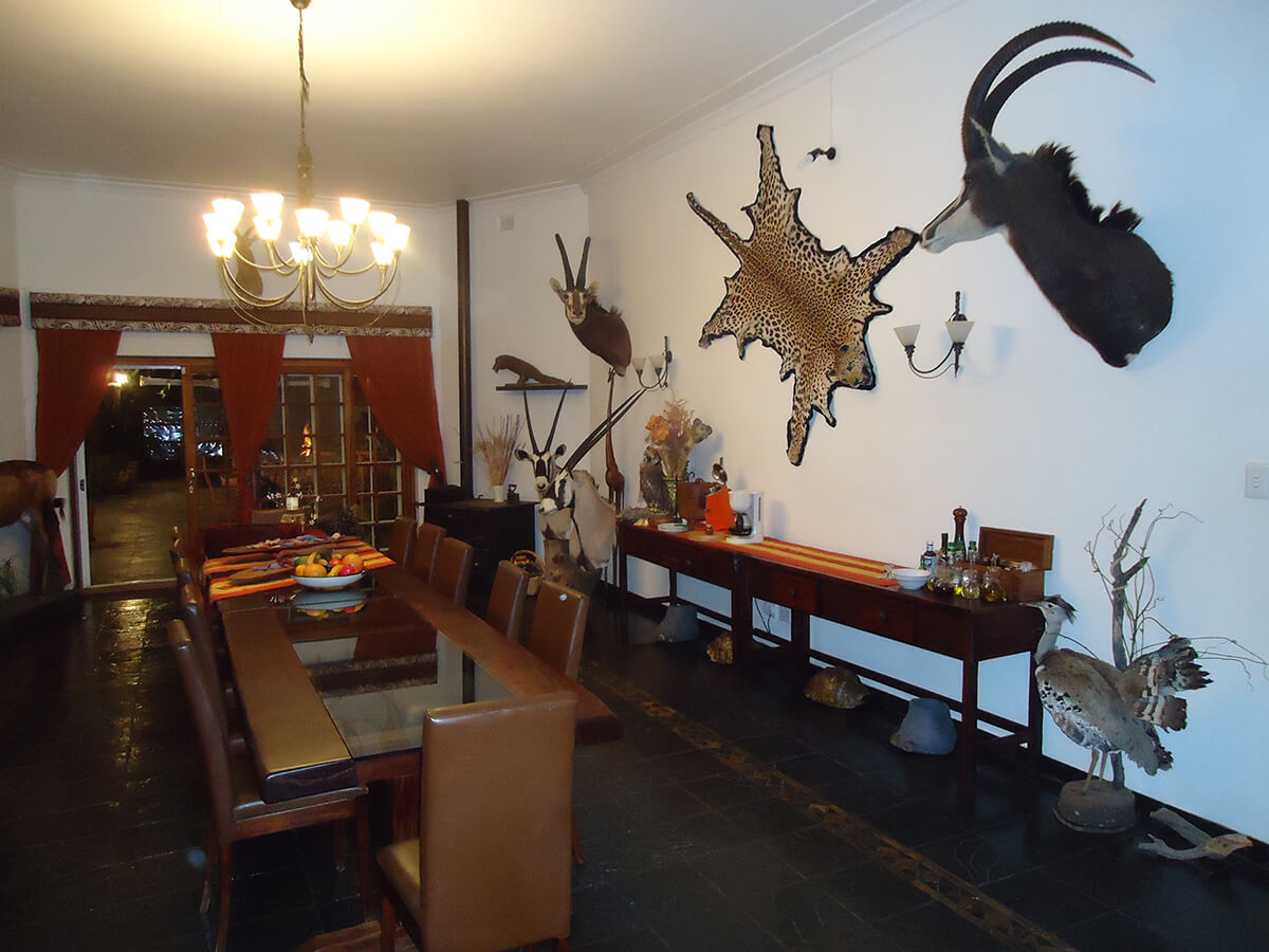 pvt hunting safaris dining area